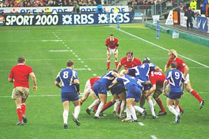 Sport in France - France playing Wales during the 2007 Six Nations Championship.