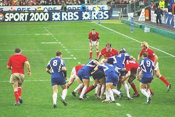 Pictures from the rugby game France vs Wales f...