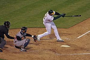 Frank Thomas (designated hitter) - Frank Thomas mid-swing on April 3, 2006