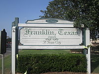 Franklin, TX sign IMG 2278.JPG