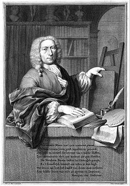 Frans van Mieris (II), by Jacob Houbraken