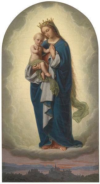 File:Franz Ittenbach Madonna mit Kind.jpg