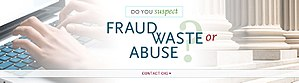 Welfare fraud - An appeal from the Office of Inspector General to contact them if one suspects fraud, waste or abuse