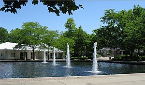 Kettering, Ohio - The fountains and administrative building for Fraze Pavilion