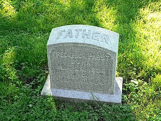 Frederick Pabst - Tombstone in Forest Home Cemetery