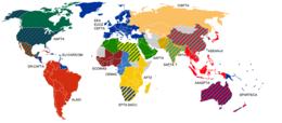 Carte des zones de libre-échange.