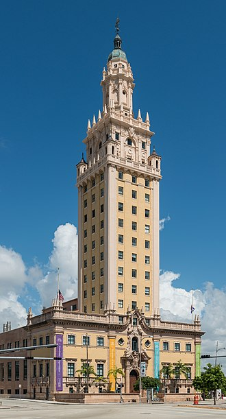 Miami - The Freedom Tower, built in 1925, is Miami's historical landmark.