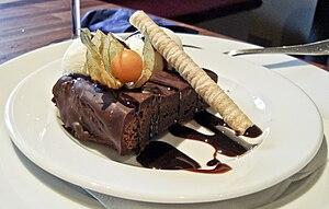 """French chocolate cake"" at restauran..."