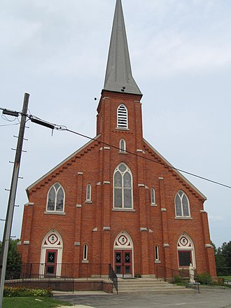 East Mead Township, Crawford County, Pennsylvania - Church in Frenchtown