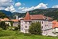 Friesach Lange Gasse 16 Stadtringmauer und Volksschule Süd-Ansicht 04092017 0714.jpg