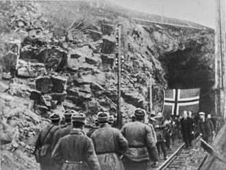 Liberation of Finnmark - Soviets meet Norwegians sheltering in a mine in Finnmark