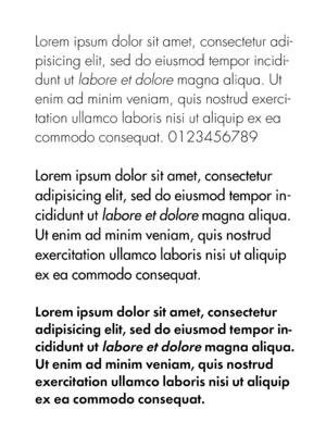 Paul Renner - Futura typeface in light, regular, and semibold