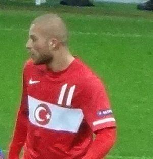 Gökhan Töre - Töre playing for Turkey in 2011