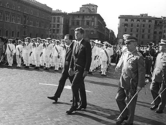 G. Andreotti JF Kennedy Rome State visit tribute to the Unknown Soldier