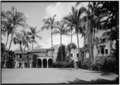 GENERAL VIEW FROM WEST - Chester C. Bolton House, 1300 Ocean Boulevard, Palm Beach, Palm Beach County, FL HABS FLA,50-PALM,14-7.tif