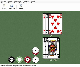 GNOME Games Collection - Image: GNOME Games Blackjack