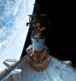 1989 in the United States - October 18: Galileo and its Inertial Upper Stage (IUS) booster being deployed by the Space Shuttle ''Atlantis'' on the STS-34 mission.