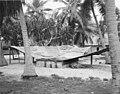Galvanized metal drain natives used to catch fresh rain water, Rongerik Island, summer 1947 (DONALDSON 124).jpeg