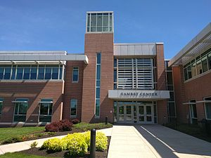 DeSales University - The main entrance to the Gambet Center for Business and Healthcare at DeSales University.