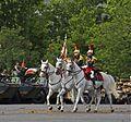 Garde à l'étendard du Régiment de cavalerie de la Garde Républicaine, 14 juillet 2012 Paris.jpg
