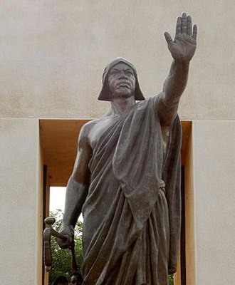 Béhanzin - Statue of Béhanzin in Abomey