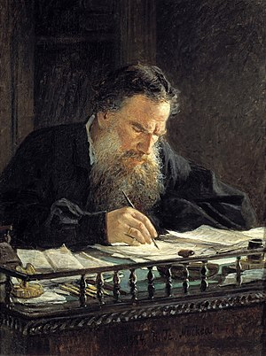 portrait of Leo Tolstoy