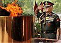 Gen. V.K. Singh paying homage at Amar Jawan Jyoti after taking over as Army Chief, in New Delhi on April 01, 2010.jpg
