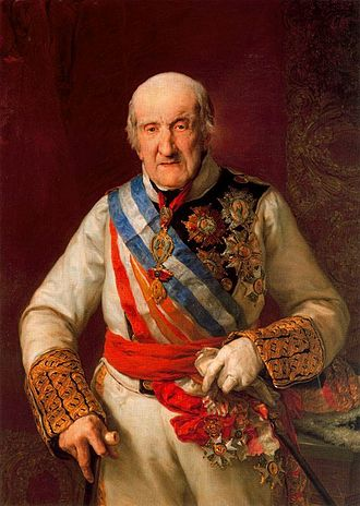 Francisco Javier Castaños, 1st Duke of Bailén - An elderly Castaños, by Vicente Lopez