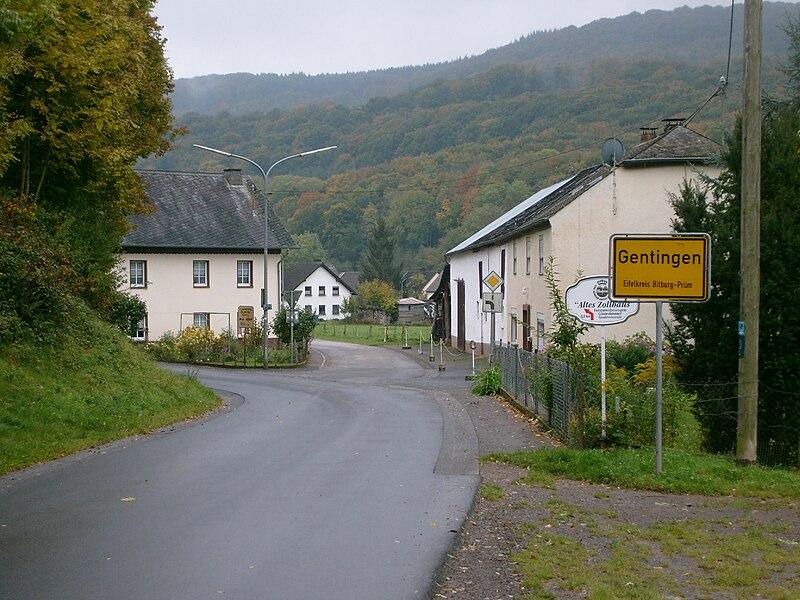 The village of Gentingen, Rhineland-Palatinate, Germany.