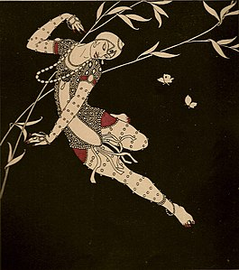 The Exoticism Of The Ballets Russes Had A Strong Influence On Early Deco. A  Drawing Of The Dancer Vaslav Nijinsky By Paris Fashion Artist Georges  Barbier ...