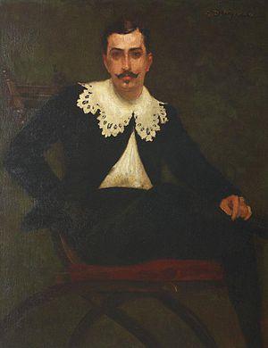 N. Petrașcu - Portrait of Petrașcu by George Demetrescu Mirea