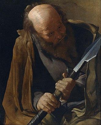 Albi Apostles - Image: Georges de La Tour St. Thomas Google Art Project
