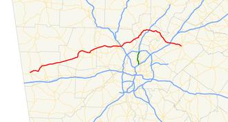 Georgia State Route 120 - Image: Georgia state route 120 map