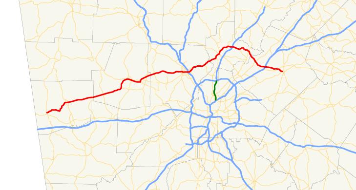 Georgia state route 120 map