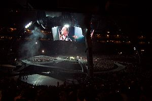 "Get On Your Boots - The lighting design and performance style of ""Get On Your Boots"" during the U2 360° Tour."