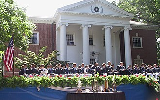 Gilman School - Commencement ceremonies held in front of Gilman's Alumni Auditorium