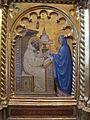 Giovanni da milano, polittico di prato, 1353-1363, da spedale della misericordia, predella 2, 02 apparizione della vergine a s.bernardo.JPG