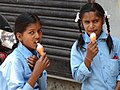 Girl Students with Ice Cream - Kirtipur - Outside Kathmandu - Nepal (13977940031).jpg