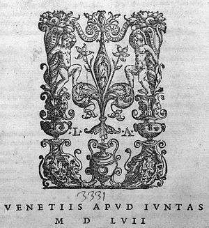 Giunti (printers) - Image: Giunti printer's mark 1557