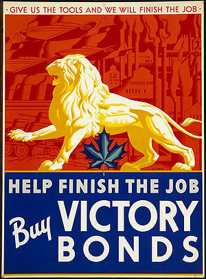Canadian Victory Loan drive poster. This poste...