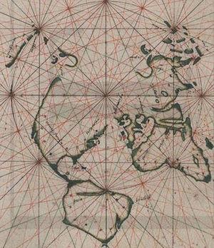 João de Lisboa - World map by João de Lisboa - Seamanship Treatise (1514)