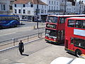 Go South Coast events fleet 1908 W508 WGH and Ryde bus station elderly pedestrian.JPG