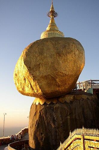 Kyaiktiyo Pagoda - Kyaiktiyo Pagoda over the Golden Rock