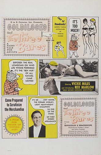"Joey Maxim - ""Goldilocks and the Three Bares"" poster"
