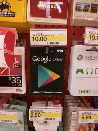 Google Play - Gift cards in a Target store in the United States