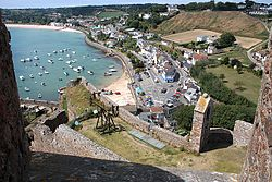A view of Gorey from Mont Orgueil