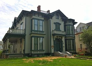 Richard J. Oglesby - Oglesby Mansion on William Street in Decatur, Illinois where Oglesby and his wife Emma lived from 1874 to 1882