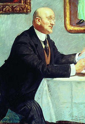 Igor Grabar - Portrait of Grabar by Boris Kustodiev, 1916.