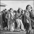 Granada Relocation Center, Amache, Colorado. A cold December afternoon doesn't dampen the spirit of . . . - NARA - 539111.jpg