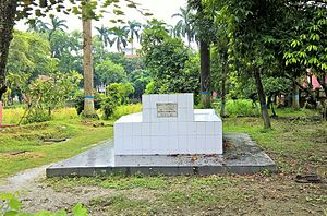 Rajshahi College - Grave of Shaheed Dulal at Rajshahi College